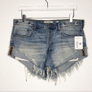 Free People | New Sashed & Relaxed Denim Shorts 30